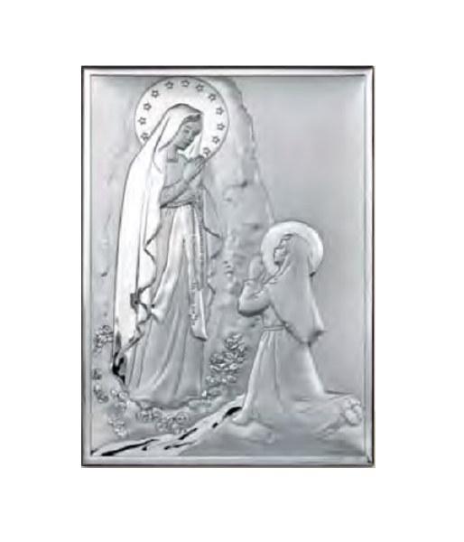 Lourdes Sterling Silver Icon (25 x 21 cm)