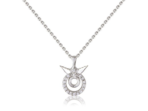 Confirmation Necklace with Circle and Dove pendant