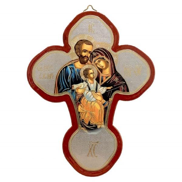 Holy Family Icon Cross (25 x 19cm)