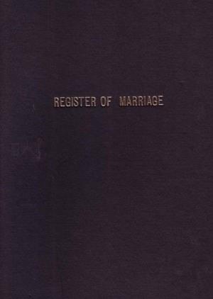 Marriage Register 100 Leaf