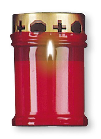 Red Memorial Candle 11cm