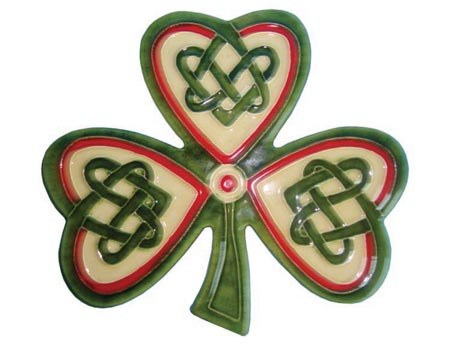 Irish Shamrock Wall Plaque