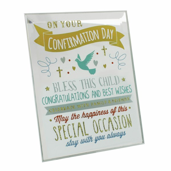 Confirmation Mirror Glass Plaque