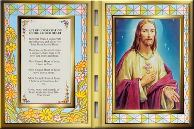 Glass Plaque Sacred Heart Consecration