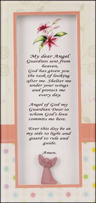 My Dear Angel Glass Plaque