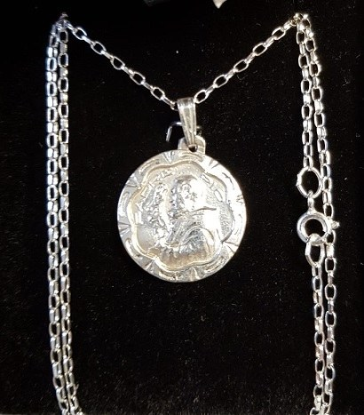 Sterling Silver Padre Pio Medal