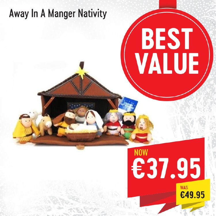 Away In A Manger  Nativity including Stable