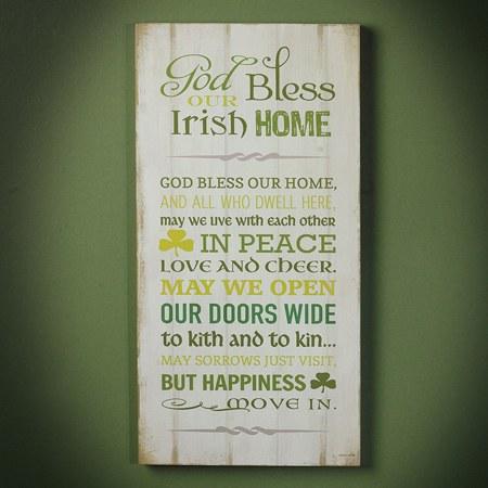 Irish Home Blessing Plaque