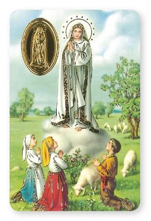Our Lady of Fatima Novena Prayer card