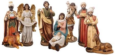 10 Piece Nativity Figures (20cm)