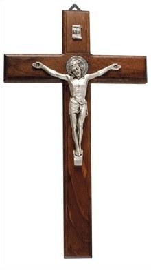 St Benedict Wood Crucifix (23cm)