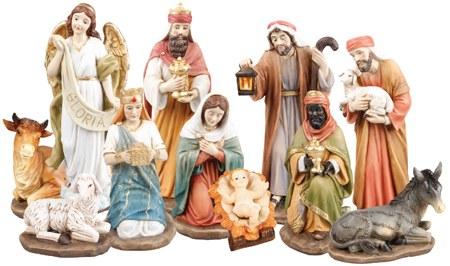 Traditional Outdoor Nativity Scene 11 Figures