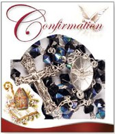 Black Glass Confirmation Rosary Beads