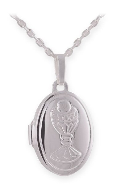 Sterling Silver First Holy Communion Locket