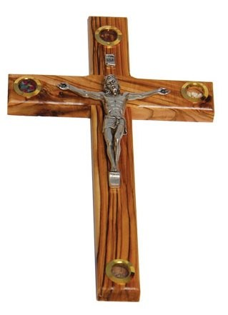 Olive Wood Crucifix  (15cm)