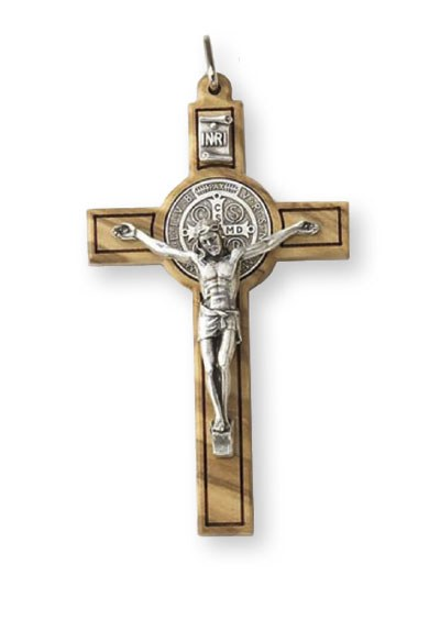 Benedict Wood Crucifix Olive Wood (8cm)