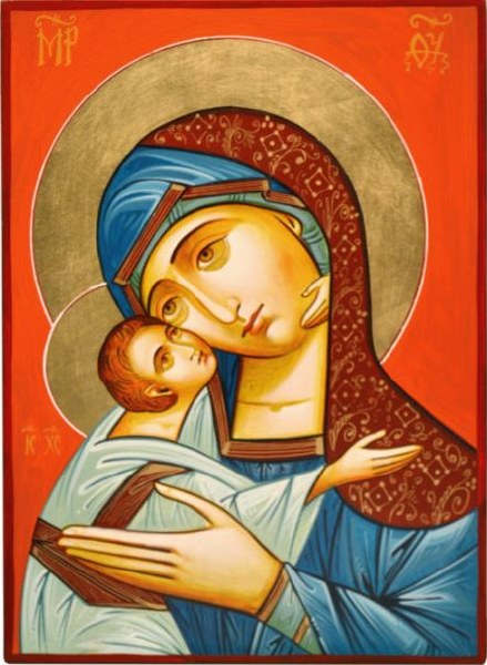 Madonna and Child Church Icon (32 x 22cm)