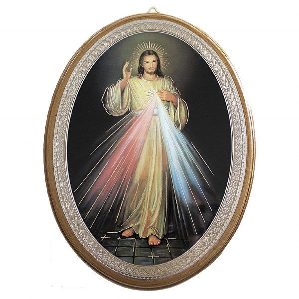 Divine Mercy Oval Icon (30 x 22cm)