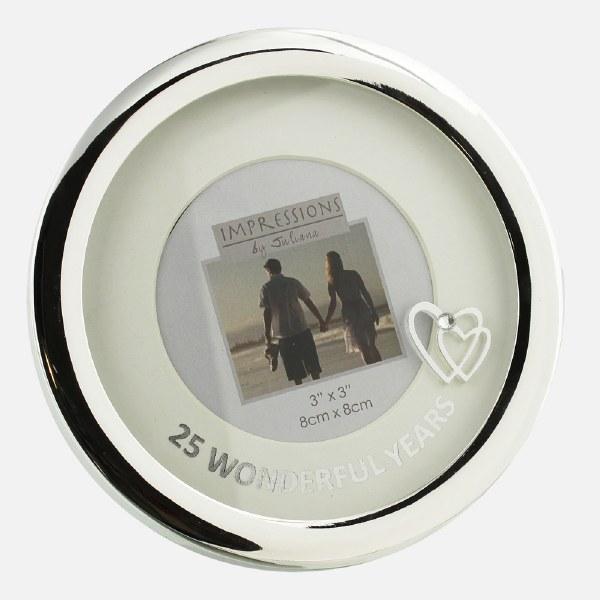 Silver Plated 25th Wedding Anniversary Photoframe