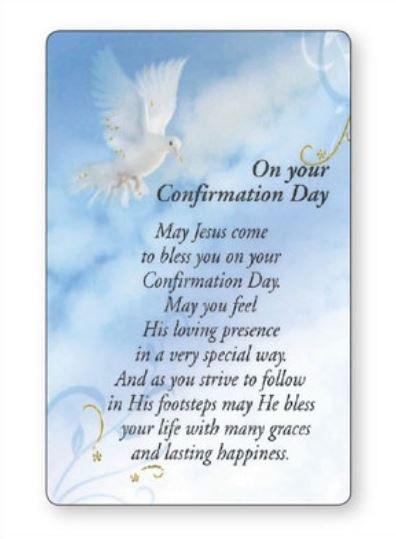 Symbolic Confirmation Prayer Leaflet