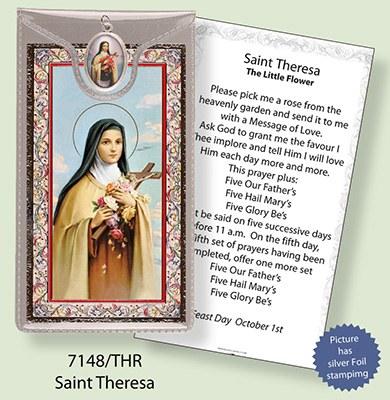 St Theresa Prayercard and Medal