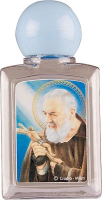 Plastic Padre Pio Holy Water Bottle