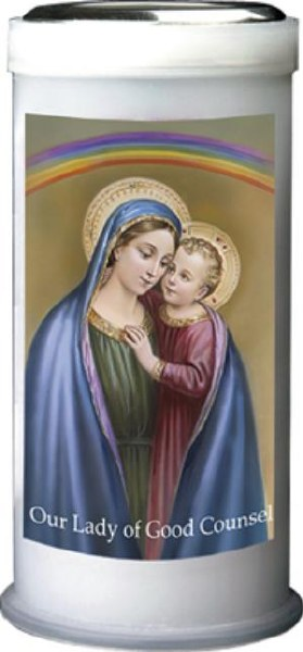 Our Lady of Good Counsel Pillar Candle