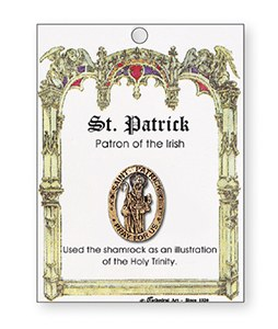 Metal Brooch St Patrick