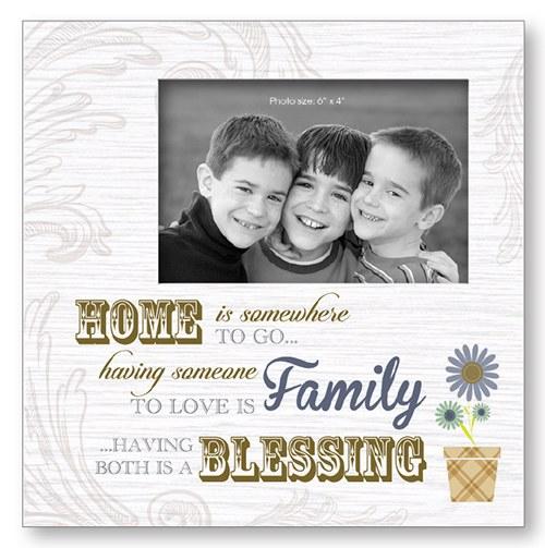 Home Blessing Art Deco Wood Frame