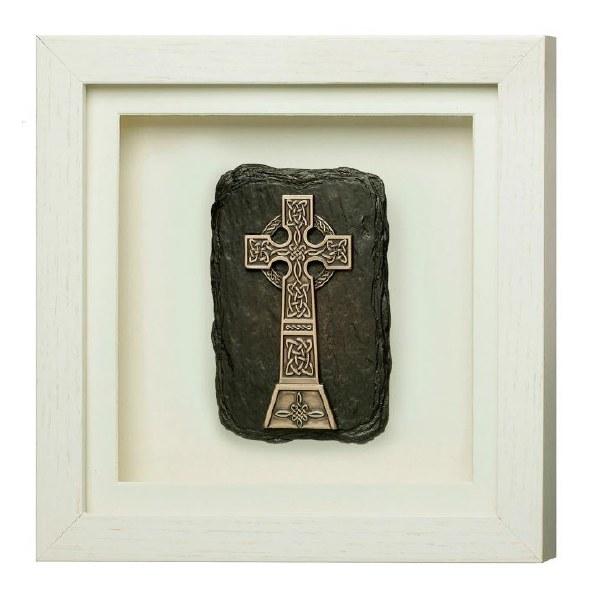 High Cross Framed Bronze Plaque