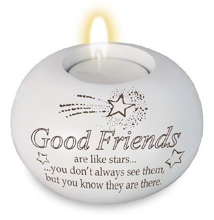 Good Friends Candle Holder with Candle