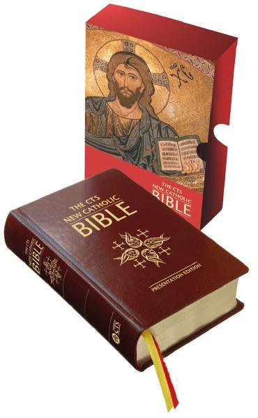 OP - CTS New Catholic Bible, leather, gilt edge
