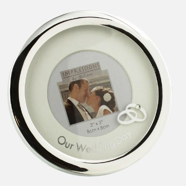 Silverplated Round Wedding Frame