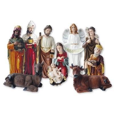 Christmas Night Large Nativity Set 11 figures  (80cm)