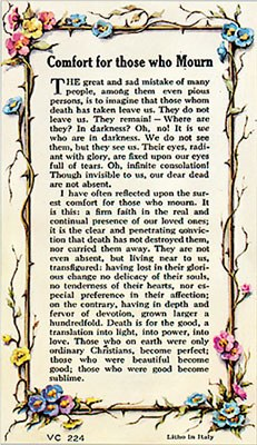 Those Who Mourn Prayer Card