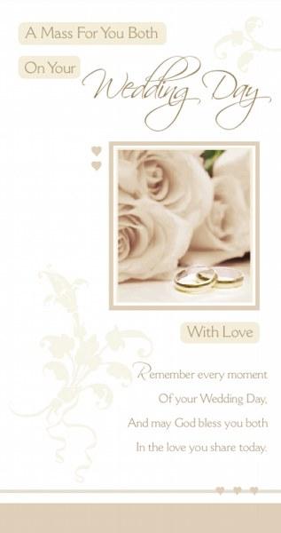 Wedding Day Mass Card