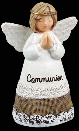 White Blessing First Holy Communion Praying Angel