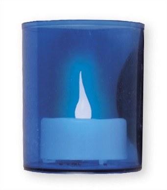 Blue Battery Votive Light