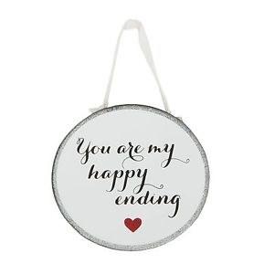 Happy Ending Mirror Plaque