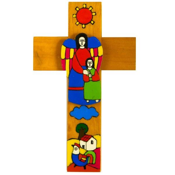 My Guardian Angel Girl Wooden Cross (25cm)