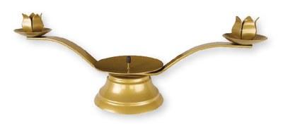 Gold Metal Wedding Candle Holder