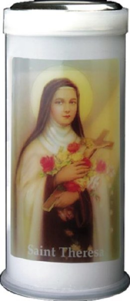 St Theresa Pillar Candle 15cm