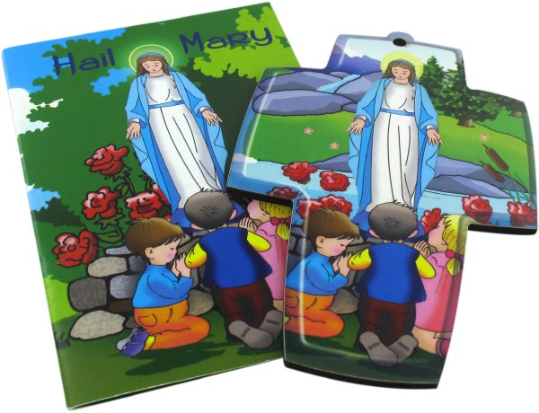 Hail Mary Children's Booklet with Free Cross
