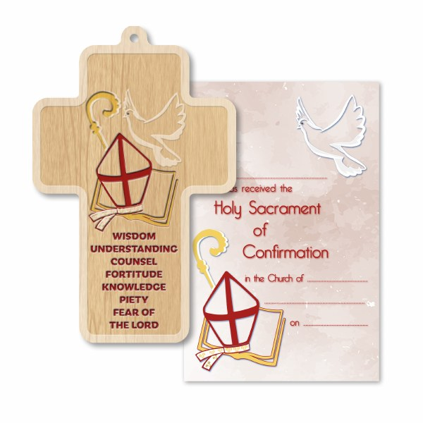 Confirmation Wooden Cross 12cm