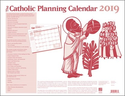 Catholic Planning Calendar 2019, Tear off pad
