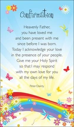 Confirmation Prayercard