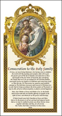 Wood Plaque Holy Family