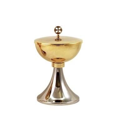 Gold and Silver plated Ciborium Diametre (16cm x 10cm Diameter)