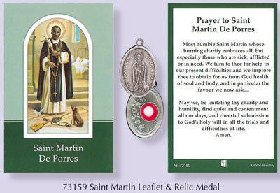 Prayercard to saint Martin De Porres