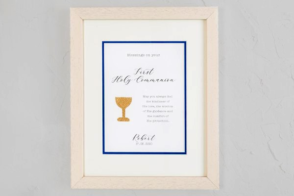 Personalised Boy A Special Day Communion Frame